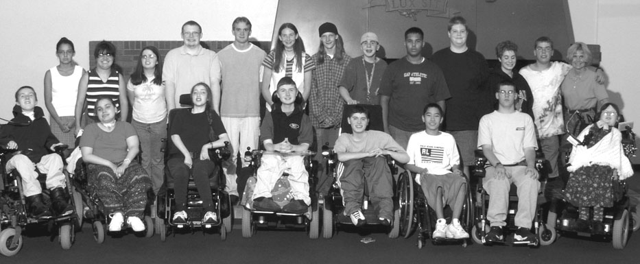 Group photo of 2001 DO-IT Scholars