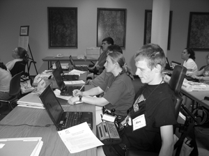 Photo of students in a computer lab.