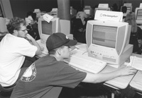 Photo of Chris and Corey in the computer lab