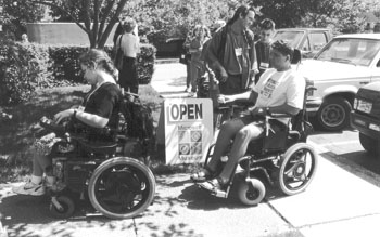 Photo of people in wheelchairs